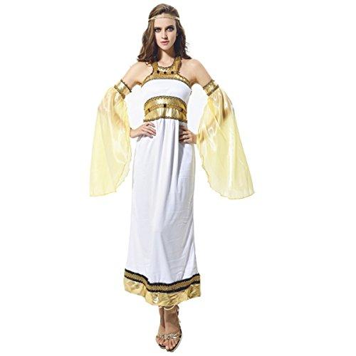 Sexy Halloweeen Costumes (Halloween Cosplay Egypt costume Performance Fancy Dress Women (Sexy Roman Women))