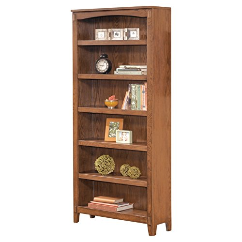 Ashley Furniture Signature Design - Cross Island Large Office Bookcase - 5 Adjustable Shelves - Casual - Medium Brown Finish