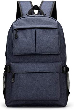 QWKZH Mochilas Boys Schoolbag Canvas School Bags for Teenage Girls Black Backpack Women Preppy Style Book Bags Men Bag Pack,Blue-f93y: Amazon.es: Deportes y aire libre
