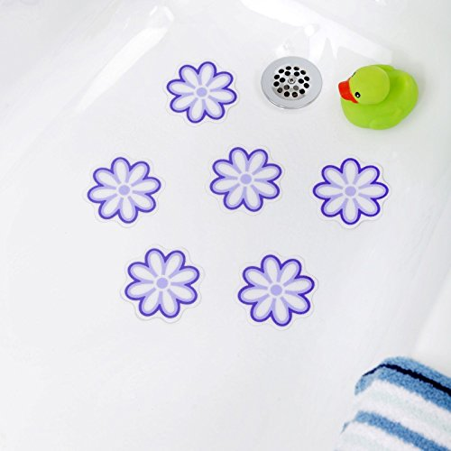 bath tub anti slip discs non skid adhesive shower stickers appliques treads clear b00s9z3xru. Black Bedroom Furniture Sets. Home Design Ideas