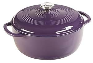 Lodge EC6D93 Enameled Cast Iron Dutch Oven, 6-Quart, Purple