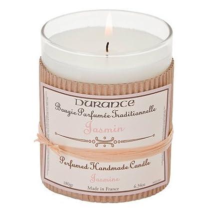DURANCE–Bougie parfumée en Verre–Jasmin