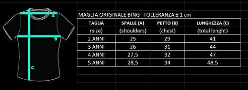 Sicem International srl T-Shirt Ufficiale Bing Sula Pando Flop Bianca Bimbo Bimba Maglia Maglietta Originale Bambino Bambina