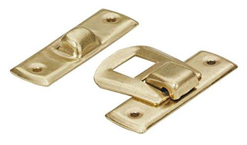 HKB ® Schatullenverschlüsse, 20 x 30 mm, Stahl vermessingt, 2 Stück, 89194 HKB ®