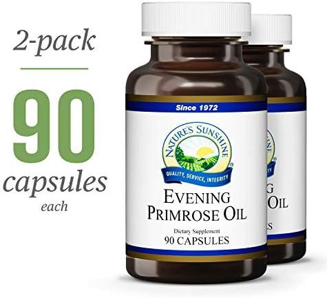 Nature s Sunshine Evening Primrose Oil, 90 softgel caps, 2 Pack