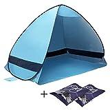 Beach Tent Yazer Portable Automatic Outdoor Cabana Anti UV Beach Pop up Tent for Camping,Beach,Fishing,Hiking,Picnic +2 Free Bonus Shoe Pouch