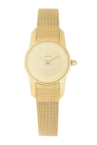 Obaku Women's V130LGGMG  Gold Titanium Coated Stainless Steel Watch