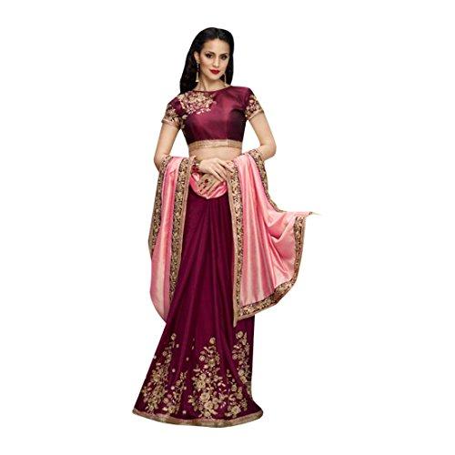 EMPORIUM 2774 culturale partywear bollywood raso sari Emporium etnico indiano gonna Etnico designer ETHNIC saree tradizionale U6TxwUd
