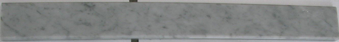 Italian Bianco Carrara Polished Marble Saddles