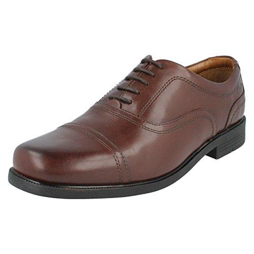 Clarks con vestito da uomo Beeston Cap calzature di pelle, colore: marrone