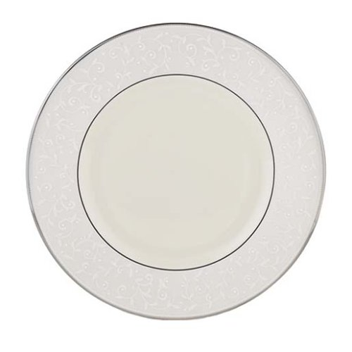 Lenox Pearl Innocence Platinum Banded Ivory China Dinner Plate