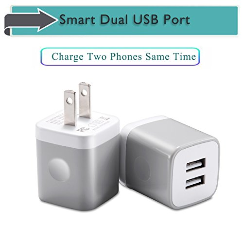 Usinfly Usb Wall Charger Ul Certified 2 1a 5v Dual Port