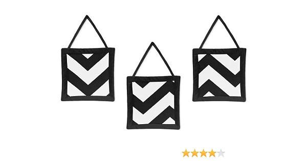 Amazon Com Zig Zag Black And White Chevron Wall Hanging Accessories By Sweet Jojo Designs Baby