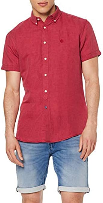 Springfield Des Linen Short Color Camisa Casual para Hombre