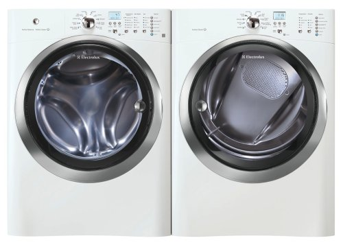 Electrolux IQ Touch White 4.05 Cu Ft (DOE) Steam Front Load Washer and Steam GAS 8.0 Cu Ft Dryer EIFLS55IIW_EIMGD55IIW