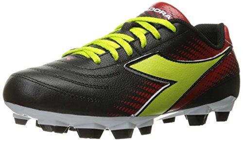Diadora Women's Mago L W LPU Soccer Shoe, Black/Lime/Red, 7.5 M US by Diadora