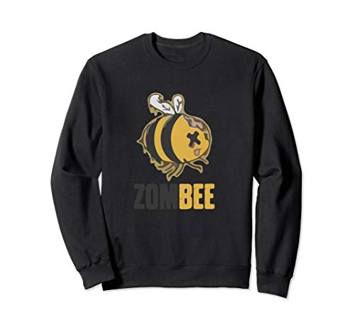 Zom Bee Funny Zombie Bee Halloween Lazy Costume Sweatshirt]()
