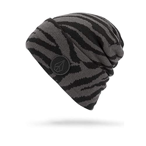Volcom Winter Beanie (Volcom Women's Hope Classic Fit Snow Beanie, black on black, One Size Fits All)