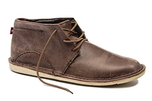 Oliberte Men's Adibo Brown Yellow Pullup 41/8/11 Chukka Boot by Oliberte