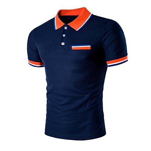 iLXHD Summer Mens Sport Short Sleeve Slim Fit Casual T Shirt Blouse Tops (Heatgear Mens Full T-shirt)