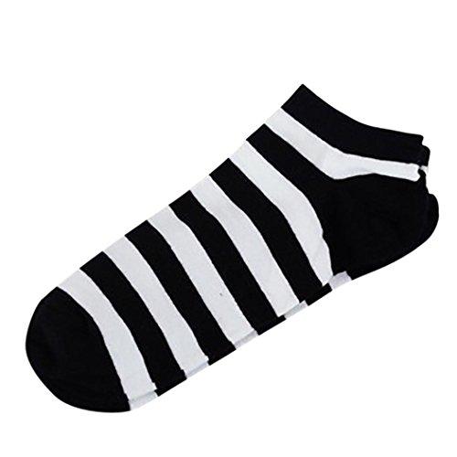 White Stripe Ankle Socks (Letdown Stripe Women And Men Comfortable Stripe Cotton Sock Slippers Short Ankle Socks (Black and White Stripes))