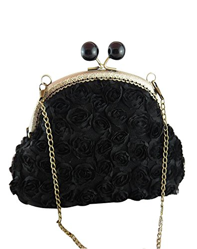 Cocktail Women's Ivory Rose Clutch Bag Evening Cloths Stereo Castle Fairy UzwqxY