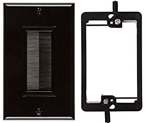 Amazon Com Buyer S Point Brush Wall Plate With Single