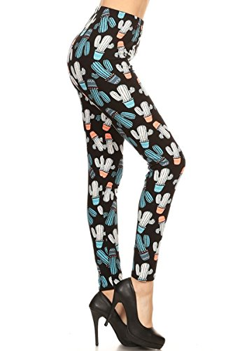 s Patch Print Fashion Leggings ()