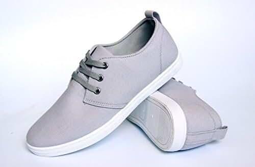 Men's Canvas Fashion Shoes Gentlemen Fashion Sneakers Sports Casual lace-up Walking Flat Leisure
