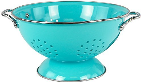 Powder Coated Colander - Calypso Basics by Reston Lloyd Powder Coated Enameled Colander, 3-Quart, Turquoise by Reston Lloyd