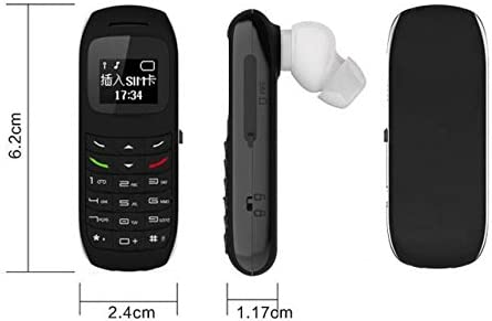 World's Smallest Phone Bluetooth Dialer Headset Mobile Mini Cell Phone Great to Hide GSM Phone Black WeeklyReviewer