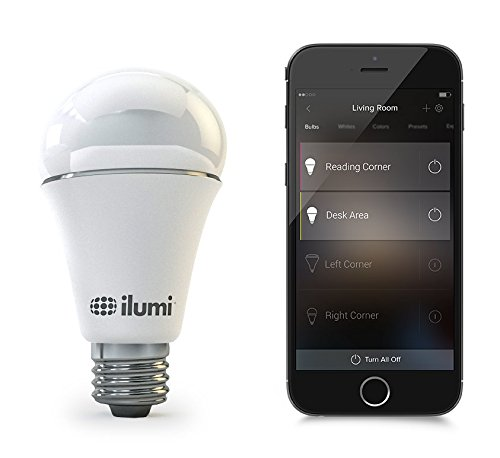 ilumi-Bluetooth-Smart-LED-A19-Light-Bulb-2nd-Generation-Smartphone-Controlled-Dimmable-Multicolored-Color-Changing-Light-Works-with-iPhone-iPad-Android-Phone-and-Tablet