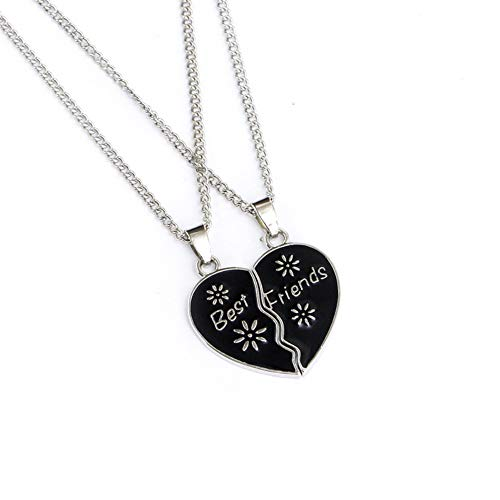 2pcs Collane Jewelry Cuore Donne Pendente Necklace Friend Rotto Gift Charm Yunnuopromi Chic Best 6OqTnOUd