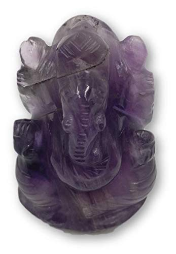Amethyst Stone Ganesh Statue - Ganesha, the Elephant God figurine gifts handmade in gemstones