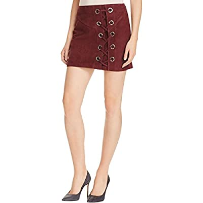 Parker Womens Monica Suede Lace-Up Pencil Skirt