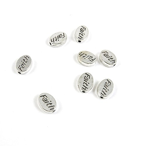 80 Pieces Antique Silver Tone Jewelry Making Charms T7MW7 Faith Loose Beads Pendant Ancient Findings Craft Supplies Bulk Lots