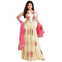 Creativee hub Salwar Kameez Ready Made Stitched Pakistani Style For Women Ivory Color