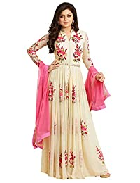 Creativee hub Salwar Kameez Ready Made Stitched Pakistani Style For Women Ivory Color