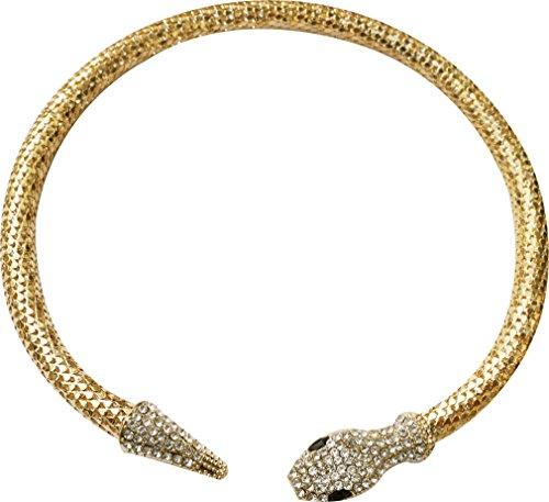 Women Tone Full Rhinestone Choker Snake Collar covid 19 (Gold Tone Snake Necklace coronavirus)