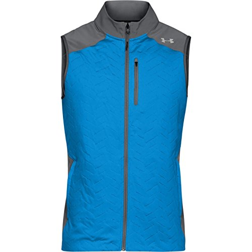 Under Armour Men's ColdGear Reactor Vest,Mako Blue (983)/White, Large