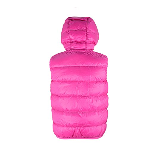 Big Zando Down Vest Wild Geranium Puffer Coat Girls' Jacket Hooded Duck 4SxqdFgS
