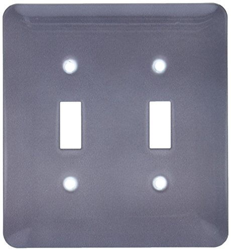 3dRose lsp_159862_2 Dark Grey Charcoal Steel Gray Plain Simple One Single Solid Color Modern Contemporary Light Switch Cover