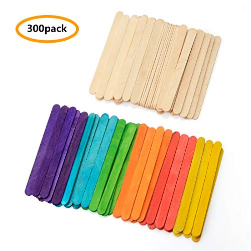 Colored Craft Sticks Wooden