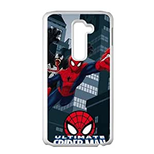 LG G2 Cell Phone Case White Ultimate Spider Man Gets Attacked Iawoa