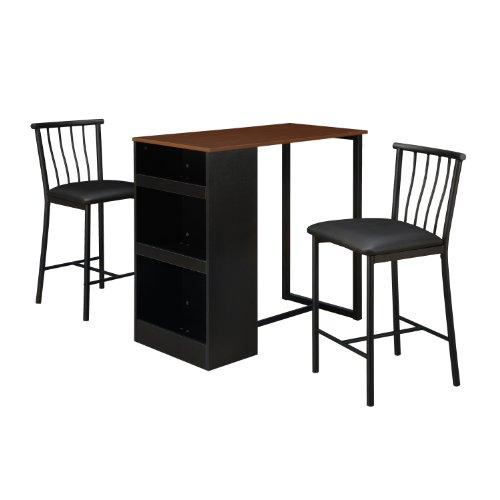 Dorel Living 3-Piece Counter Height Bar Set