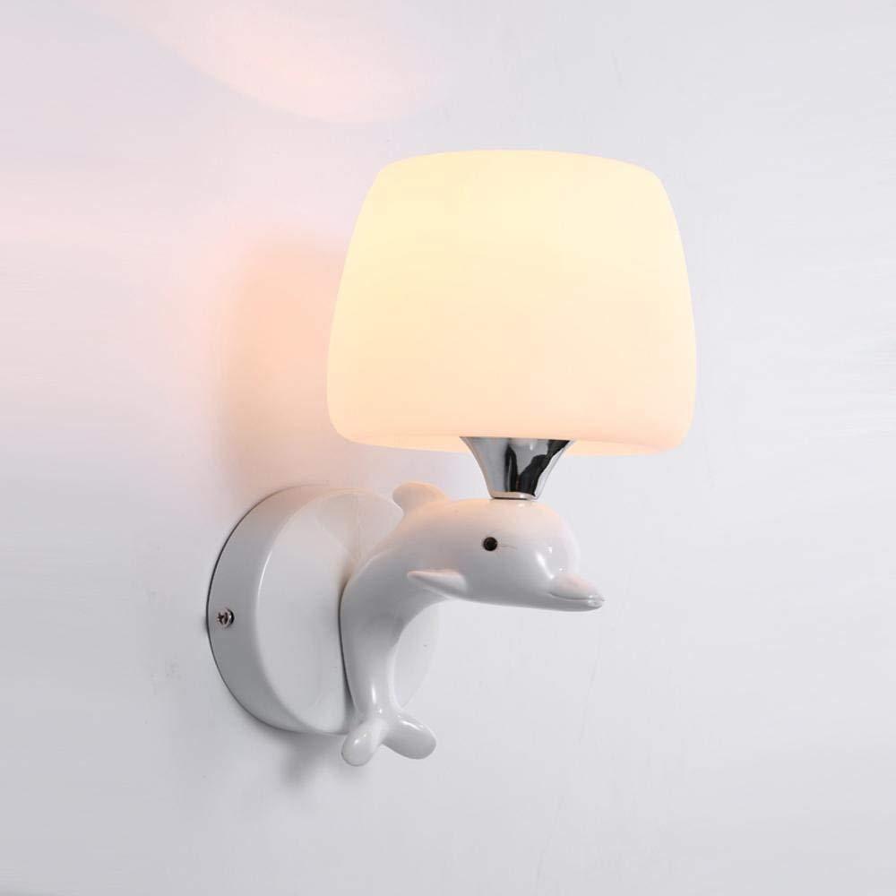 Modern Simple Wandleuchten Metal Dolphin Chassis Square Pilz Glas Lampenschirm Wand Lampe Wohnzimmer Wandleuchten 1 Lights
