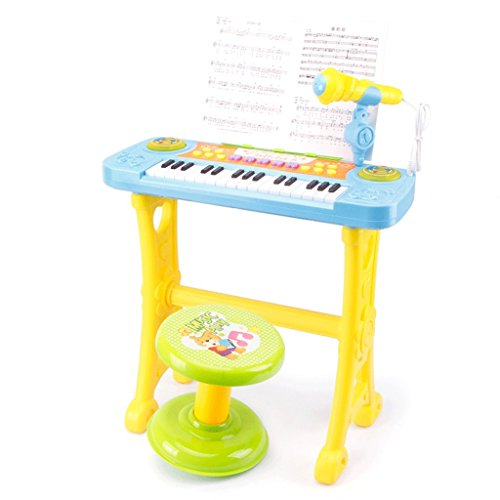 DUWEN Keyboard Children's Keyboard Multifunction Bring Support With Microphone 3-6 Years Old (Color : Blue) by DUWEN