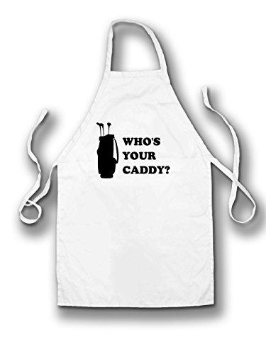 Dressdown Whos Your Caddy? - Unisex Fit Apron White