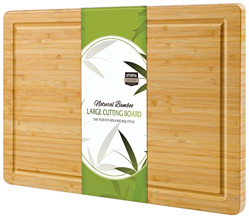 Utopia Kitchen Extra Large Bamboo Cutting Board with Juice Grooves