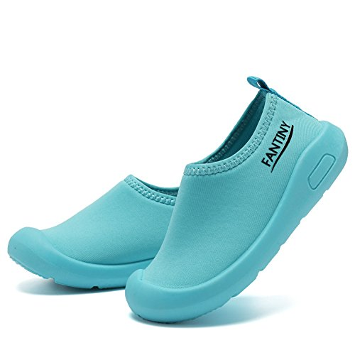 CIOR Kids Slip-on Casual Mesh Sneakers Aqua Water Breathable Shoes For Running Pool Beach (Toddler/Little Kid) SC1600 Blue 20 6